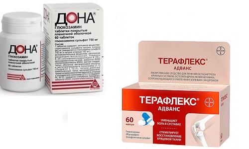 Дона или Терафлекс назначаются пациентам, страдающим суставными заболеваниям