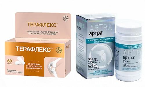 Артра и Терафлекс относятся к фармакологической группе хондропротекторов