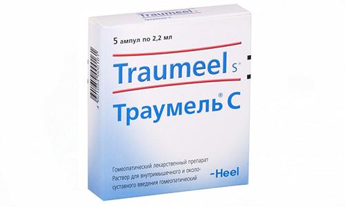 Траумель проявляет эффективность при лечении острых травм, остеоартроза коленного сустава, оказывает многокомпонентное воздействие